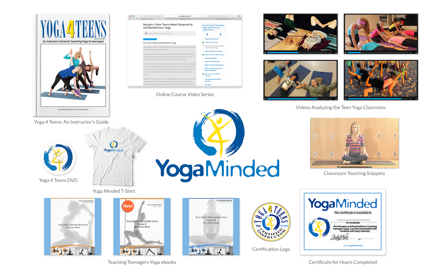 Yoga 4 Teens Teacher Training Package, An Online Course, Instructor's Guide, and More for Teen Yoga Certification